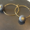 Thumbnail: Hoop earring with concrete donut shaped ball