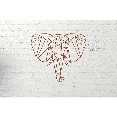 Elephant rust metal wall decoration