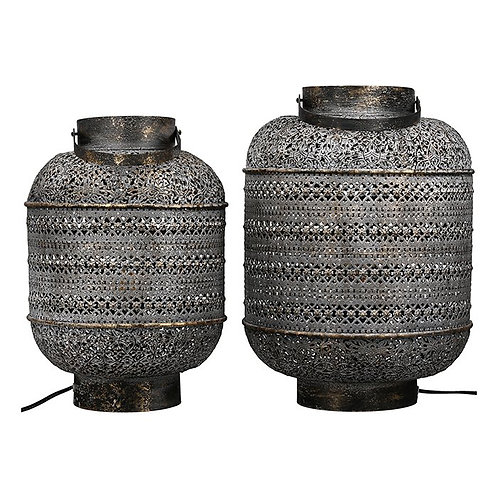 Marrakech lamp in  antique grey and white