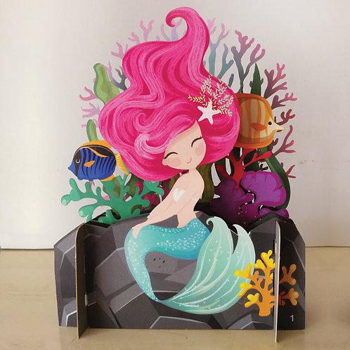 3D card - Mermaid