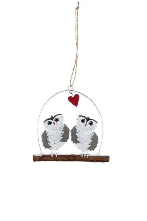 Twin Owl Hanging Decoration