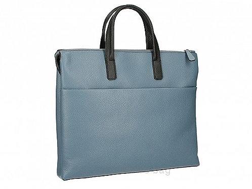 Leather Work Bag -Sky Blue