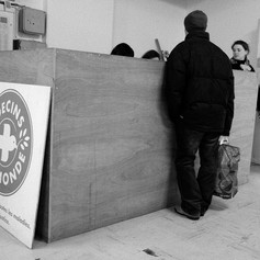 Each evening during winter, MDM's staff receive homeless people in the center