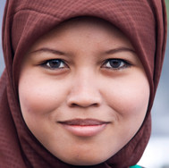 A girl with hijab