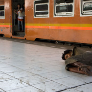 Manggarai Station. Street child