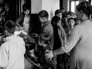 Each one has a task during the week, as serving the food to others or cleaning the rooms, etc.
