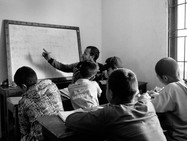 mathematics for another class. Each social worker is in charge of 8 children, from 6 to 18 years old.