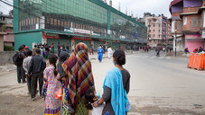 on the other side of Bagmati river close to the historical centre, another queue is waiting