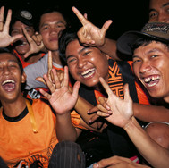Jakmania boys, supporters of Persija, Golora Bung Karno stadium