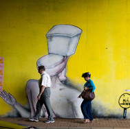 Setiabudi, graffitis on a wall