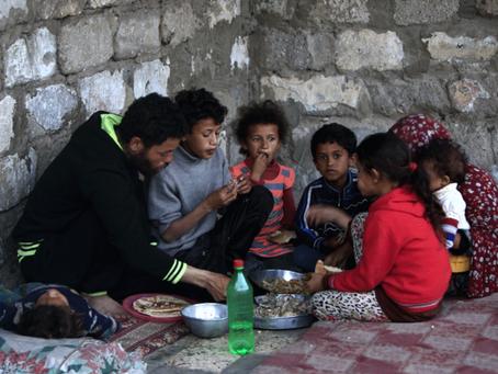 Over 1 million palestinere trenger mat nå!