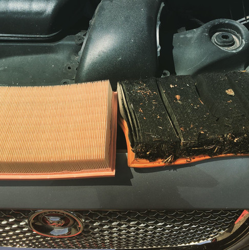 Air Filter New & Old