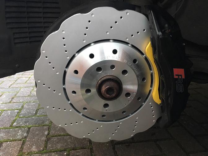 Worn brake disc replaced