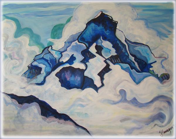 Jungfrau in the clouds