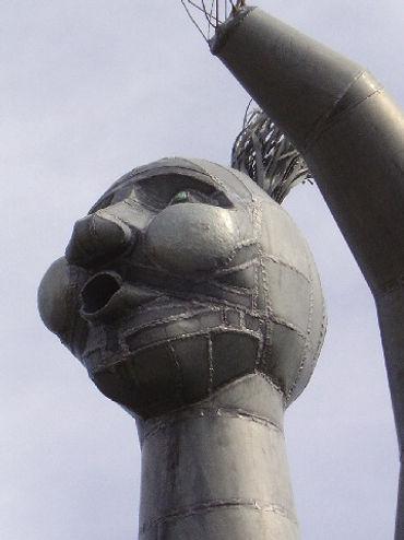 pléione sculpture monumentale zinc