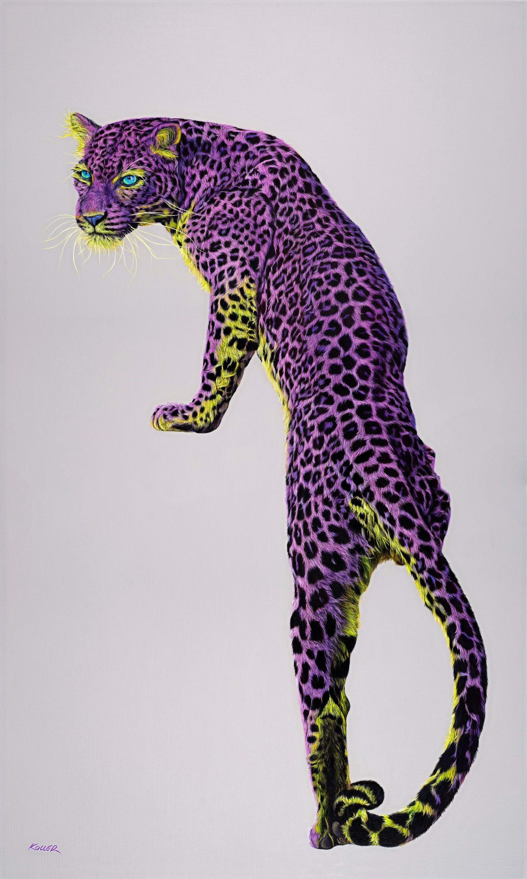 LEOPARD IN VIOLET & YELLOW, 2020
