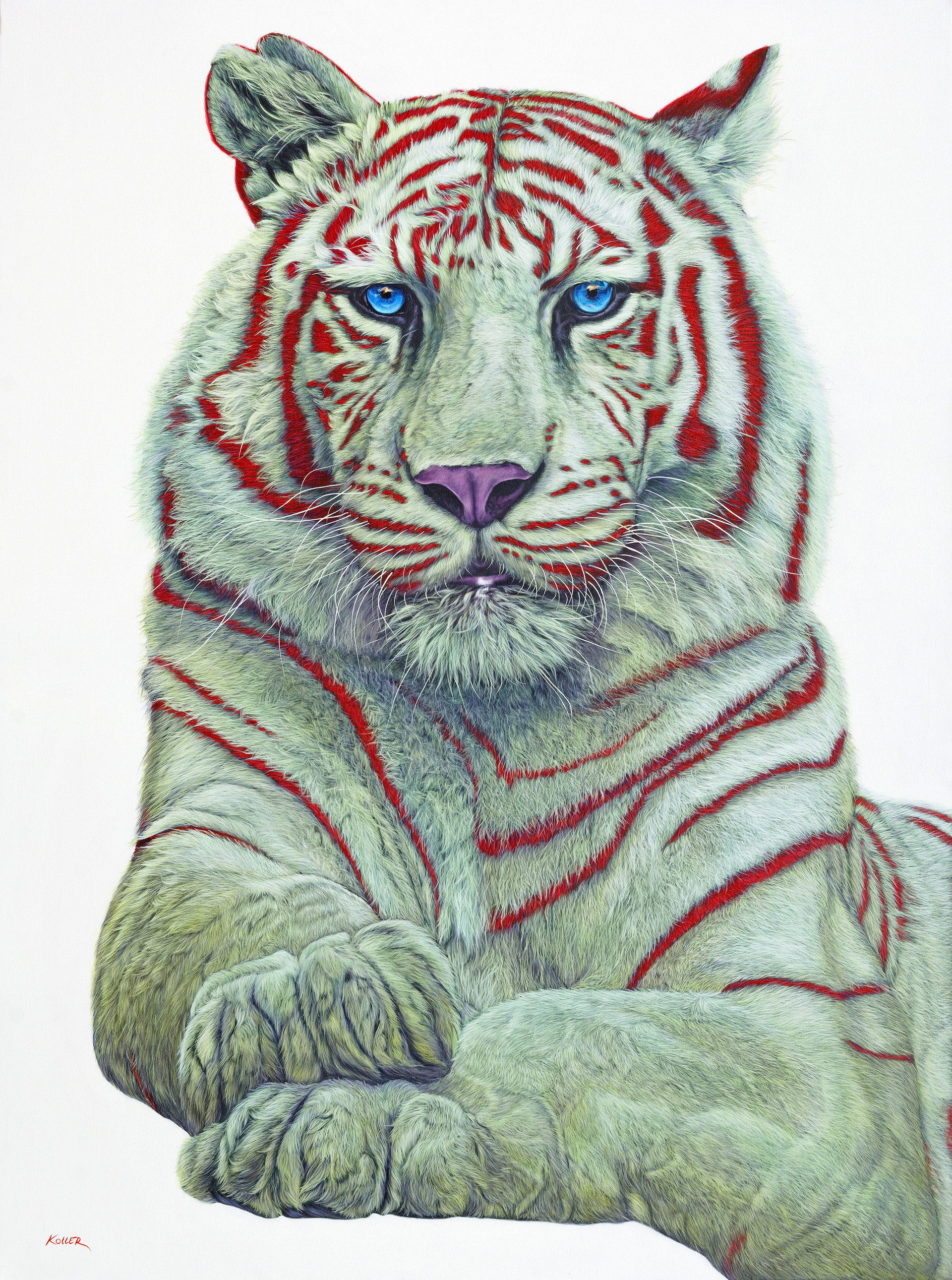 TIGER WITH RED STRIPES, 2017