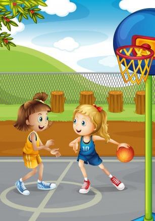 garotas jogando basquete