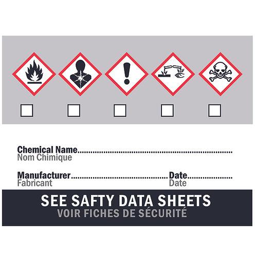 FBS Pump & Spray WHMIS Labels - Set of 5