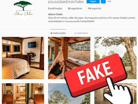 Dicas para identificar contas falsas de pousadas e chalés no Instagram