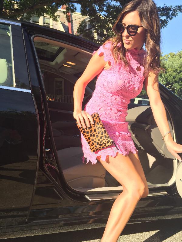 pink, lace & studs