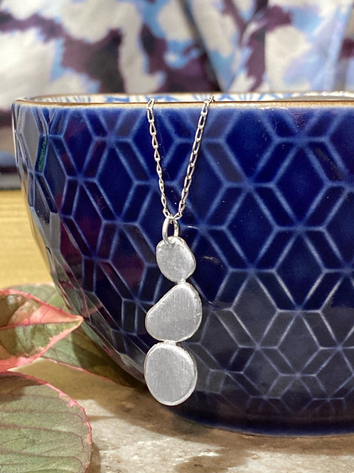Sterling silver pebble pendant