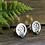 Thumbnail: Horsehair Stud Earrings