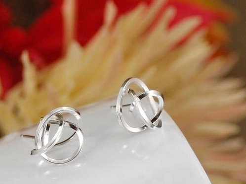 Tangle Studs - Sterling Silver