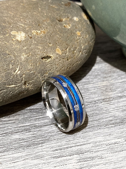 8mm wide Horsehair Ring