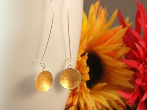 Sterling silver & 22ct yellow gold Flair earrings