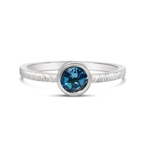 Luna Ring with Blue topaz