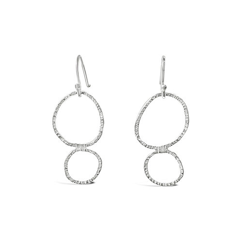 Luna Drop Earrings - Silver