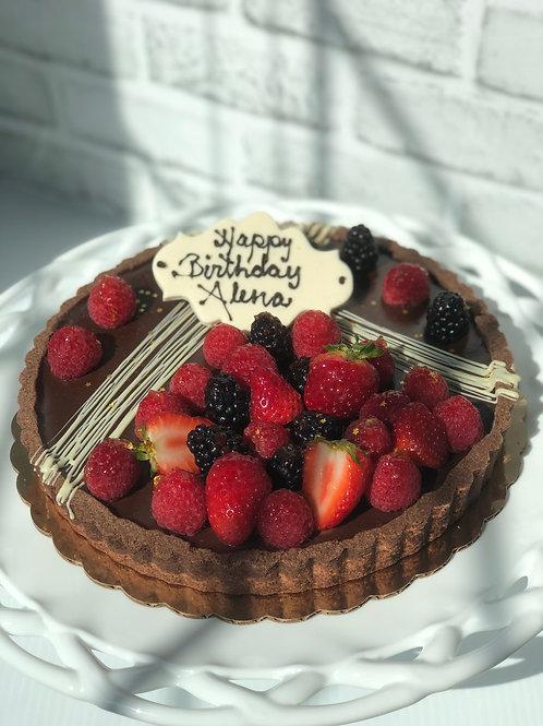 "10"" Chocolate Truffle Torte with Fresh Fruit"