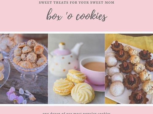 Box of a dozen assorted fancy cookies