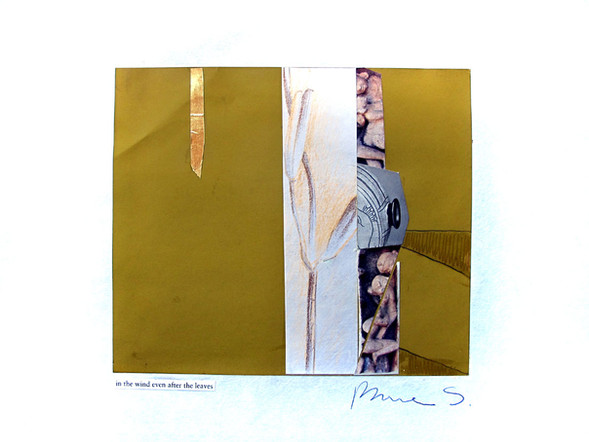 """In the wind even after the leaves Collage 9"""" x 12"""""""
