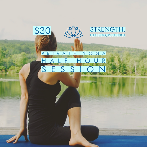 Thirty Minute Private Yoga Session