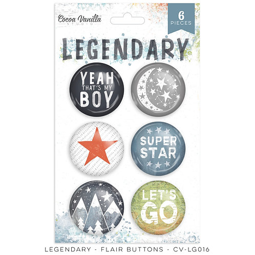 Legendary Flair Buttons- Cocoa Vanilla Studio