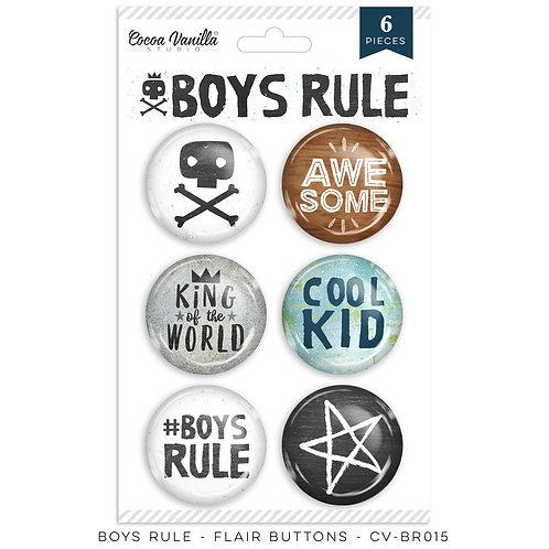 Boys Rule Flair Buttons