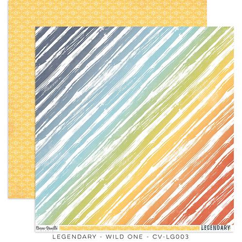 Wild One- 12x12 Paper- Legendary Cocoa Vanilla Studios