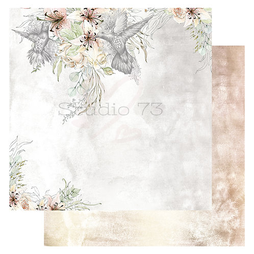 Hummingbird 12x12 Paper- Studio 73
