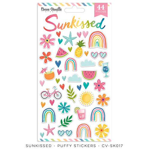 Sunkissed Puffy Stickers