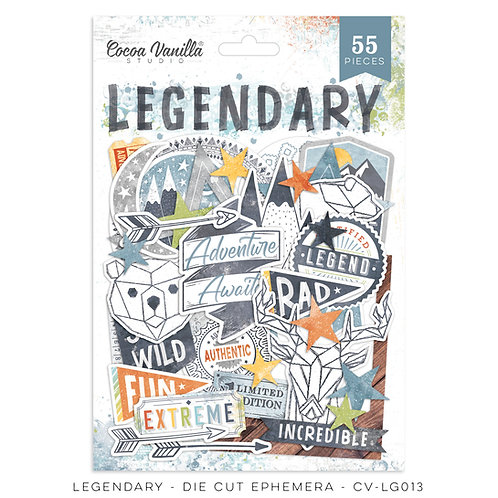 Legendary Die Cut Ephemera- Cocoa Vanilla Studio