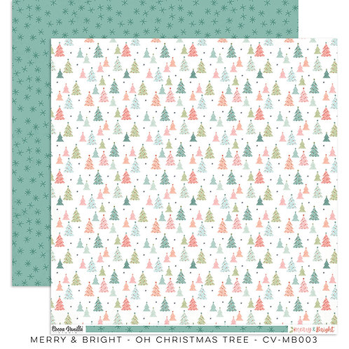 Oh Christmas Tree 12x12 Paper- Merry & Bright