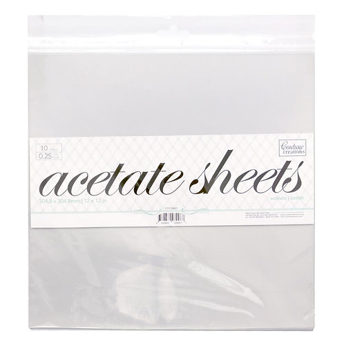 Acetate Sheets- 12x12 inches