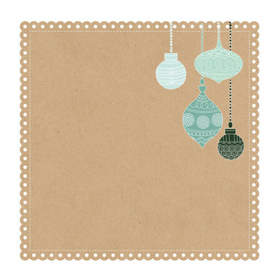 Mint Wishes- Gingerbread Cookie Die Cut 12 X 12 Paper