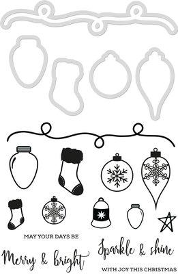 Decorative Die & Stamp Set- Christmas Garland