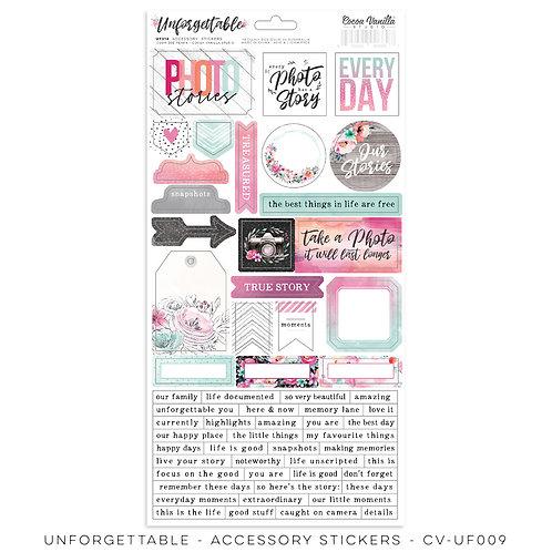 Accessory Stickers- Unfogettable- Cocoa Vanilla Studio