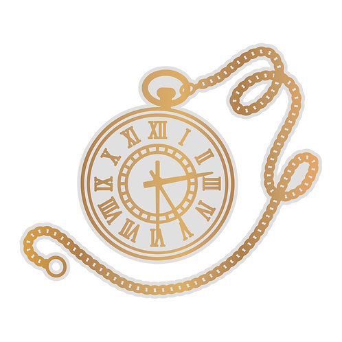 Pocket Watch Cut, Foil & Emboss Die- Gentleman's Emporium