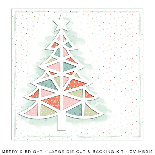 Merry & Bright Large Die Cut & Backing Kit
