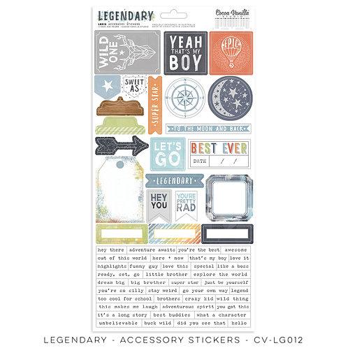 Legendary Accessory Stickers- Cocoa Vanilla Studio